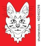 cat. funny cat. kitten.... | Shutterstock .eps vector #402402298