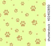 seamless paw  web icon. vector... | Shutterstock .eps vector #402402850