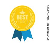 best choice modern icon medal.... | Shutterstock .eps vector #402403498
