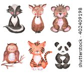 woodland animals set of... | Shutterstock . vector #402409198