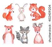 Woodland Animals Set Of...