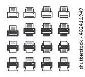 print icon set | Shutterstock .eps vector #402411949
