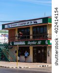 Small photo of Varadero, Cuba - March 6, 2016: Commercial building in Varadero, housing a Cimex department store, a Cuban chain store