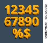 set of vector numbers  from 1... | Shutterstock .eps vector #402420850