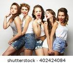 group of  beautiful stylish...   Shutterstock . vector #402424084
