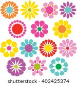 simple vector flowers | Shutterstock .eps vector #402425374
