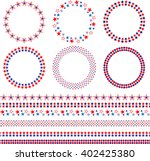 4th of july frames and borders | Shutterstock .eps vector #402425380