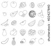 fruit set | Shutterstock .eps vector #402427840
