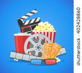 cinema movie poster design... | Shutterstock .eps vector #402428860