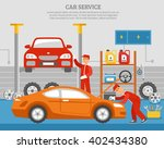 mechanical services of car with ... | Shutterstock .eps vector #402434380