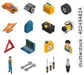 isometric isolated icon set... | Shutterstock .eps vector #402434824
