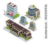 modern city shopping center... | Shutterstock .eps vector #402434956