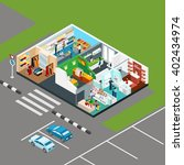 shopping mall isometric icons... | Shutterstock .eps vector #402434974