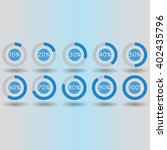 icons pie graph circle... | Shutterstock .eps vector #402435796