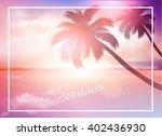beach sunset summer background | Shutterstock .eps vector #402436930