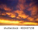 Beautiful Stormy Sunset Sky....