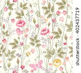 seamless floral pattern with... | Shutterstock .eps vector #402437719