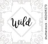 boho style design in texture... | Shutterstock .eps vector #402439273