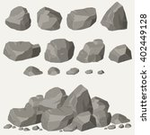 rock stone cartoon in isometric ... | Shutterstock .eps vector #402449128