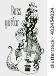 vector bass guitar | Shutterstock .eps vector #402454024