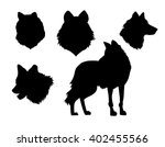 vector illustration animal wolf ... | Shutterstock .eps vector #402455566