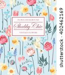 shabby chic vector background | Shutterstock .eps vector #402462169