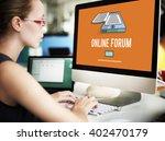 online forum discussion...   Shutterstock . vector #402470179