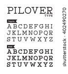 egyptian neat typewrite font | Shutterstock .eps vector #402490270