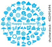 circle with japanese summer... | Shutterstock .eps vector #402491494