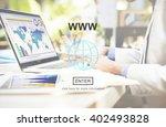 www website internet network... | Shutterstock . vector #402493828