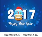 2017 happy new year greetings... | Shutterstock .eps vector #402501616