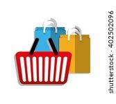 shopping basket design   vector ... | Shutterstock .eps vector #402502096