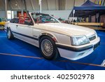 """Small photo of STUTTGART, GERMANY - MARCH 17, 2016: Executive car Opel Monza Keinath C5 (GSE edition), 1983. Europe's greatest classic car exhibition """"RETRO CLASSICS"""""""