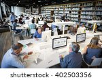 library academic computer... | Shutterstock . vector #402503356