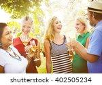 enjoyment food beverage wine...   Shutterstock . vector #402505234