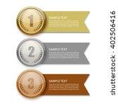 gold medal vector | Shutterstock .eps vector #402506416