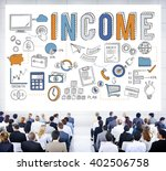 income salary benefit banking... | Shutterstock . vector #402506758