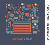 container concept design on... | Shutterstock .eps vector #402507250
