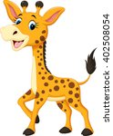 cute giraffe cartoon  | Shutterstock . vector #402508054