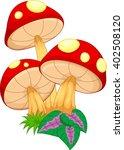 vector illustration of mushroom ... | Shutterstock . vector #402508120
