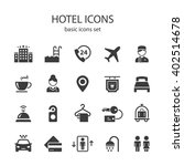 hotel icons. | Shutterstock .eps vector #402514678
