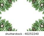 christmas framework with snow | Shutterstock . vector #40252240