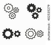 settings    vector icons set.... | Shutterstock .eps vector #402535279