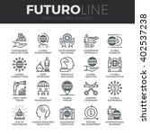 modern thin line icons set of... | Shutterstock .eps vector #402537238