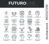 modern thin line icons set of... | Shutterstock .eps vector #402537250