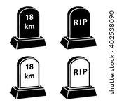 Vector 3d Milestone Tombstone...