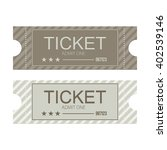 tickets icon. flat design.... | Shutterstock .eps vector #402539146