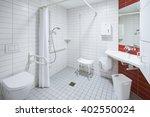 bath room of a hospital ward... | Shutterstock . vector #402550024