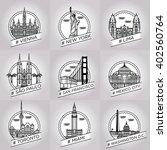 vector line city badge set... | Shutterstock .eps vector #402560764