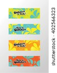 modern summer banner | Shutterstock .eps vector #402566323
